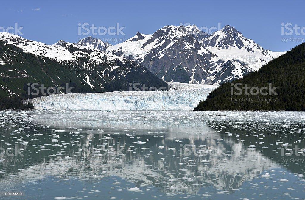 Meares Glacier, Alaska stock photo