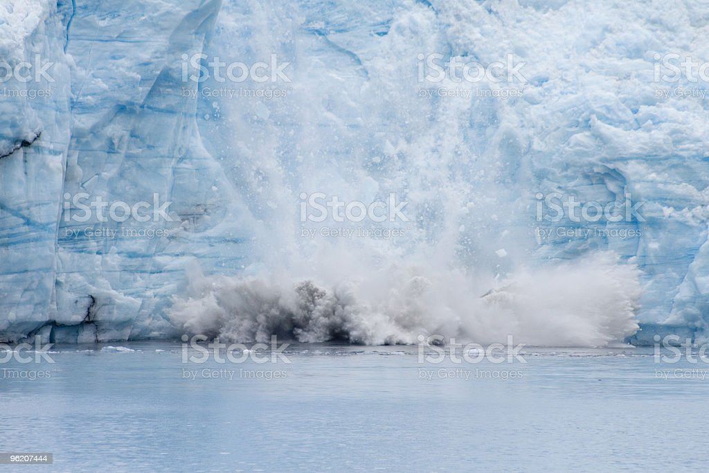 Meares Glacier Calving stock photo