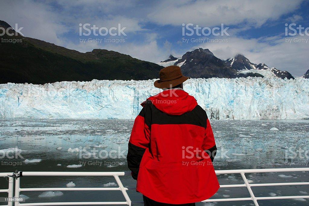 Meares Glacier royalty-free stock photo