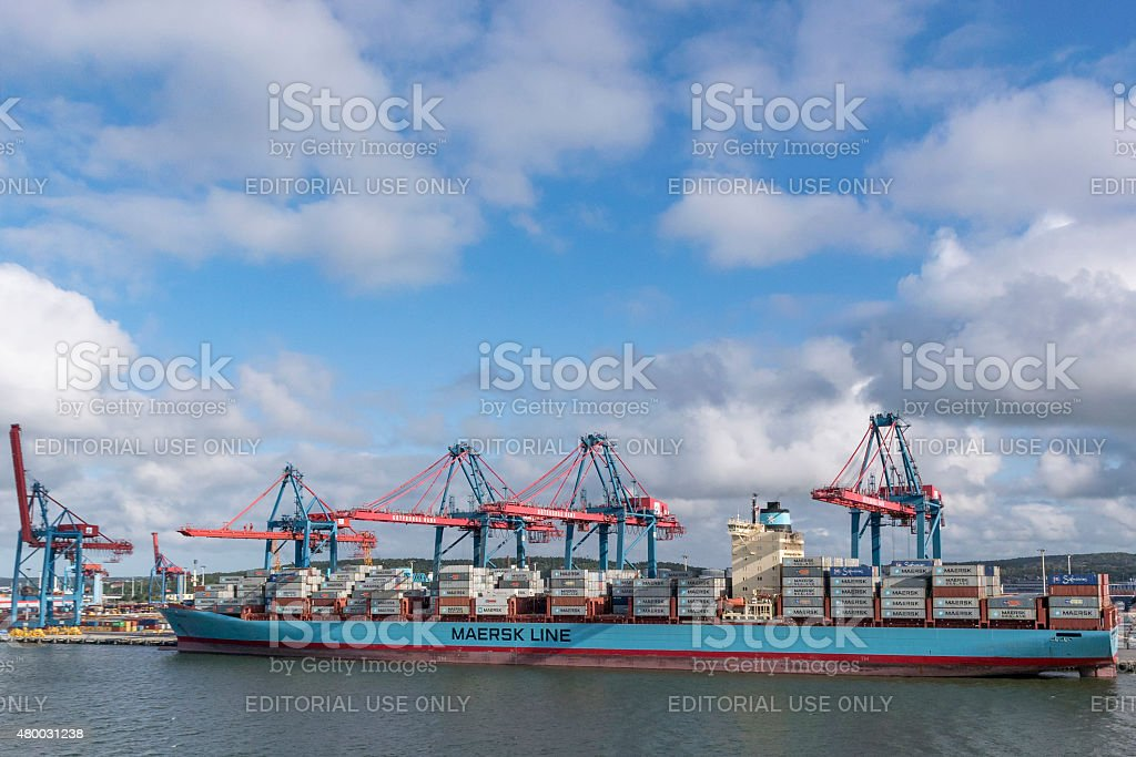 Mearsk Container ship stock photo
