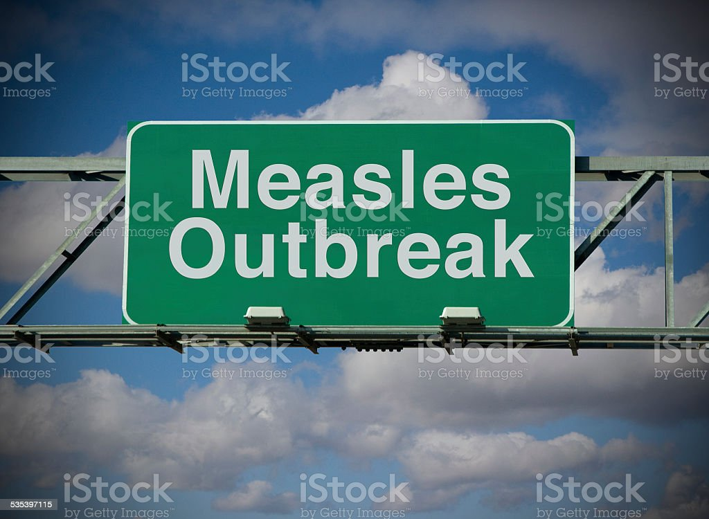 Measles Outbreak stock photo