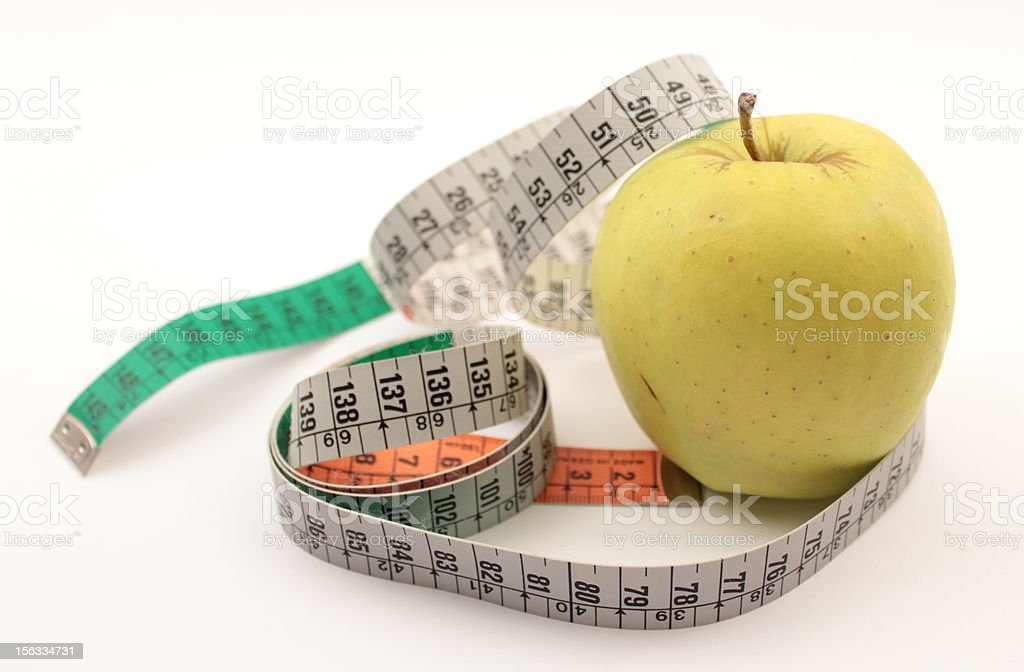measure a diet royalty-free stock photo