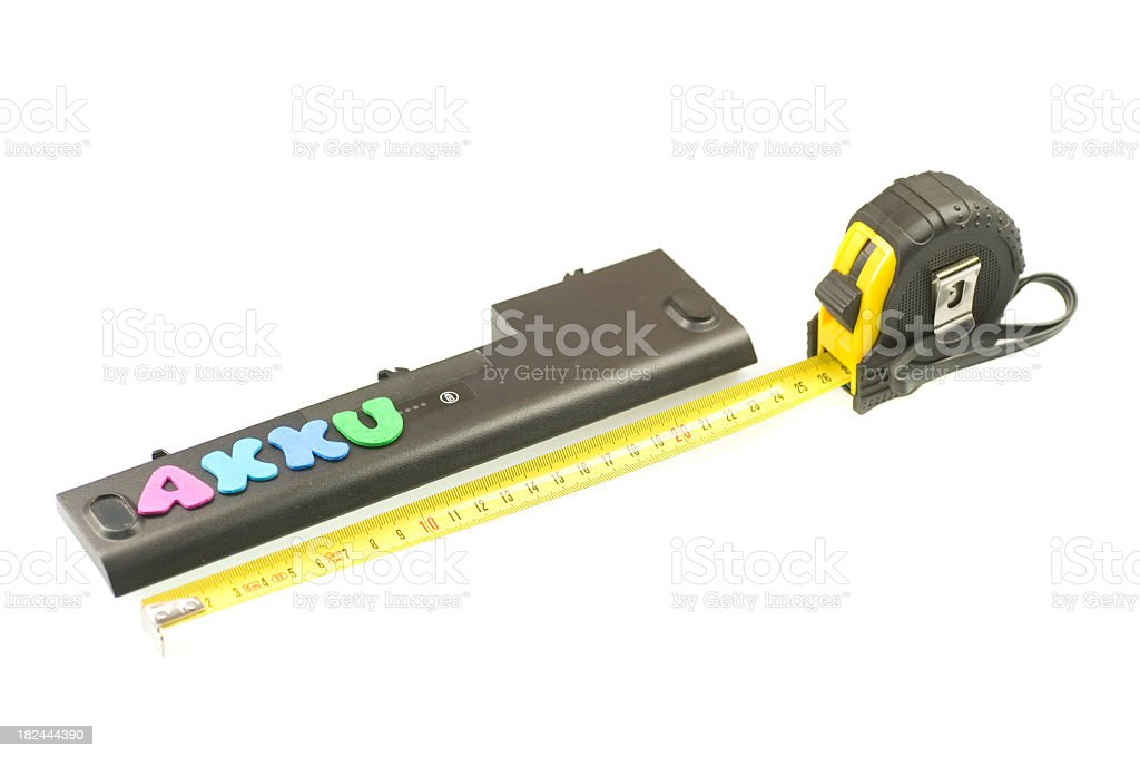 measure akku capacity stock photo