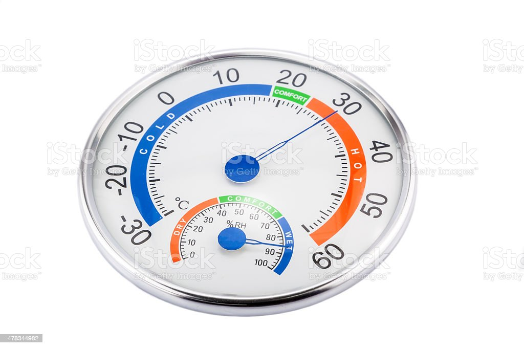 Measure humidity and temperature stock photo