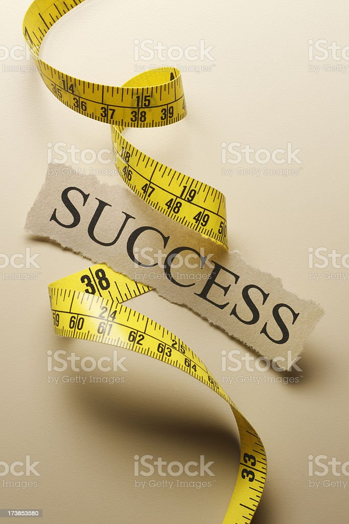 Measure of Success royalty-free stock photo