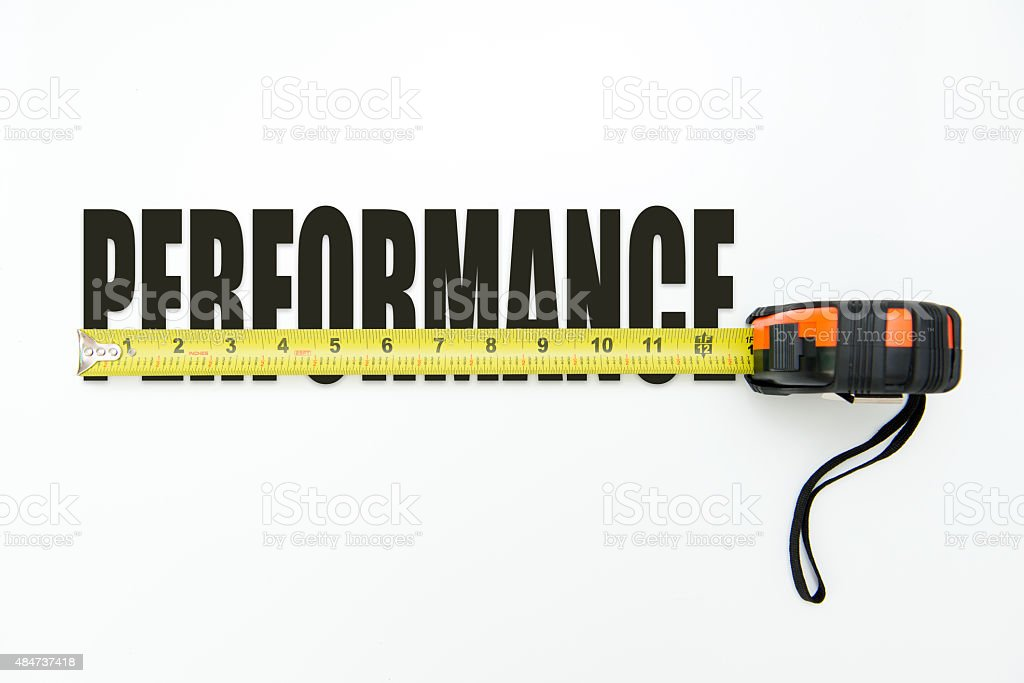 Measure performance stock photo