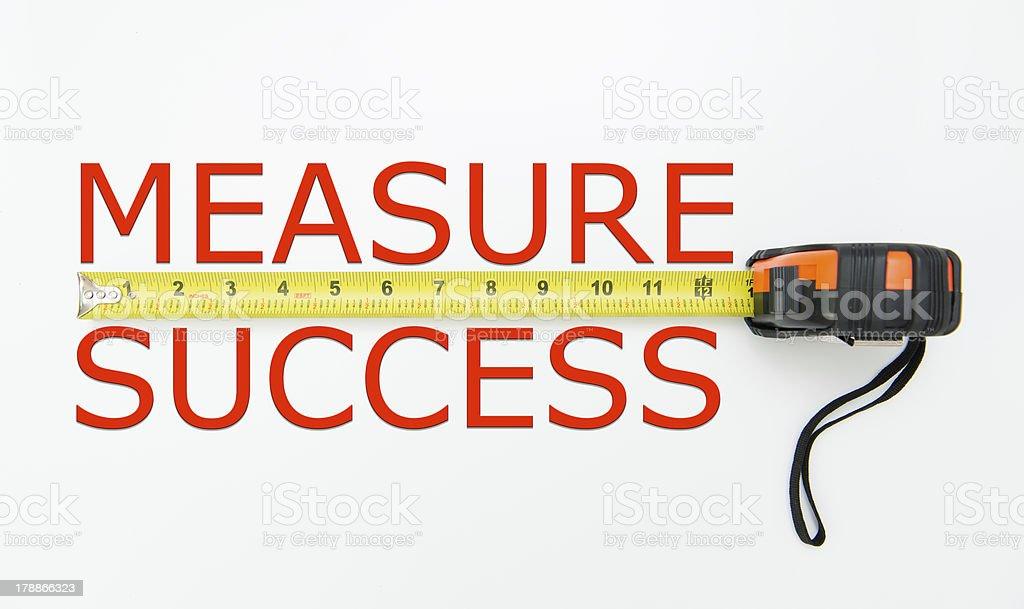 Measure success stock photo