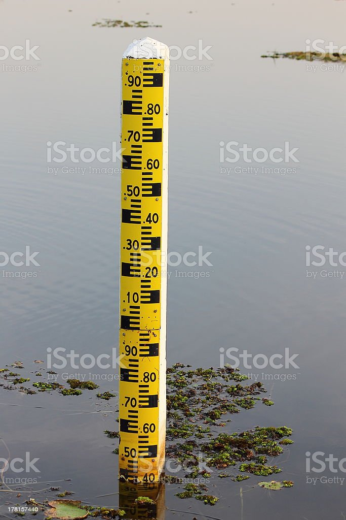 Measure the water level royalty-free stock photo