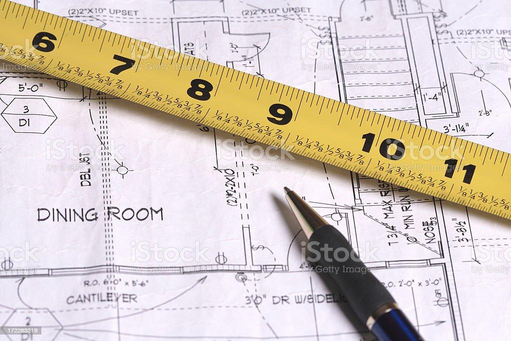 Measure twice stock photo