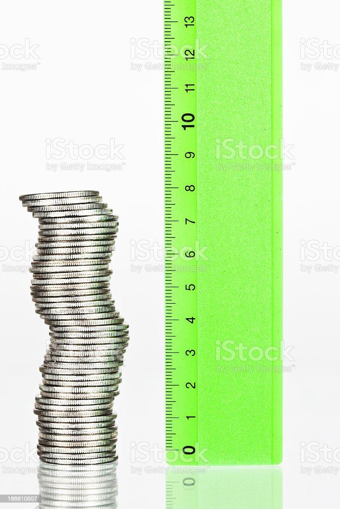 Measure your money stock photo