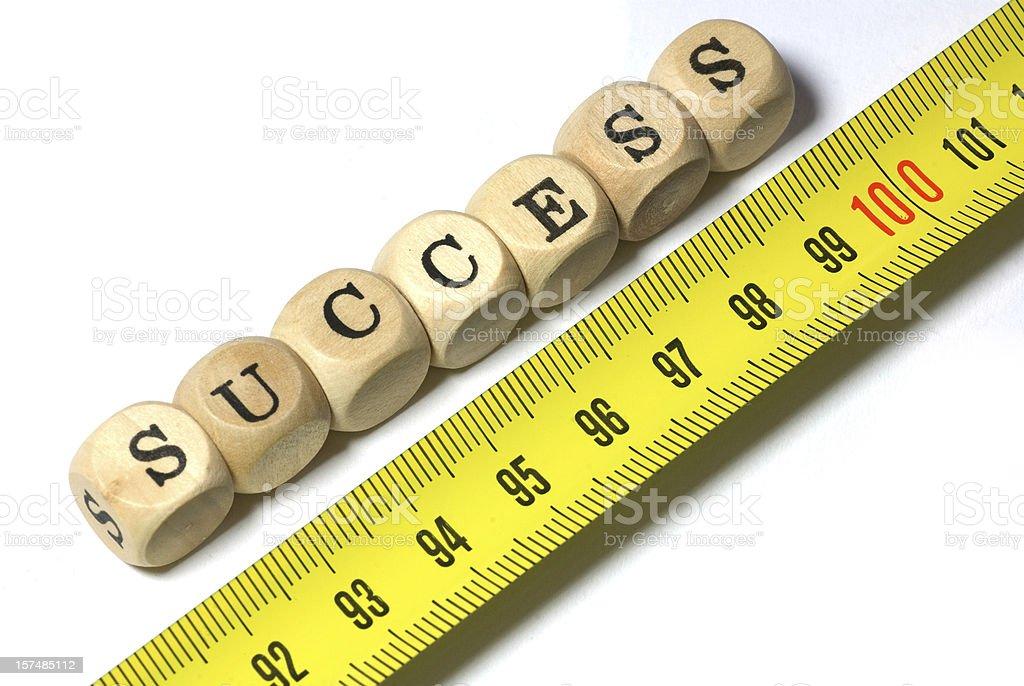 measure your success - gauging stock photo