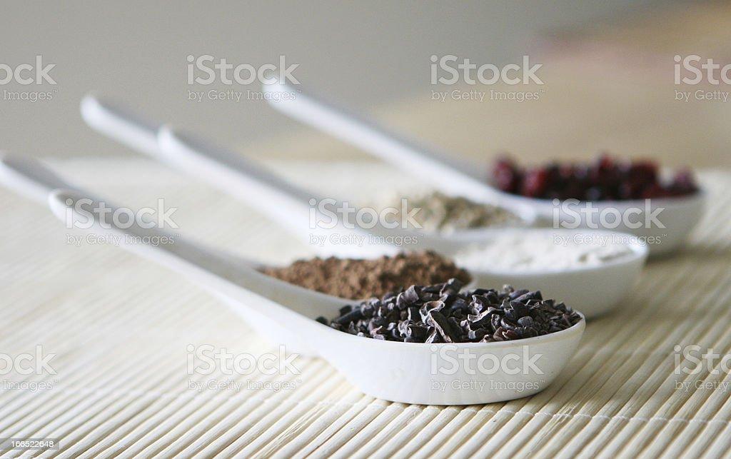 Measured baking ingredients royalty-free stock photo