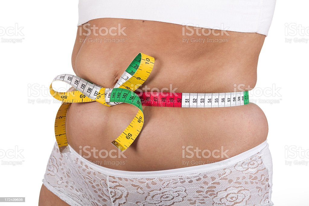 measurement of abdominal fat royalty-free stock photo
