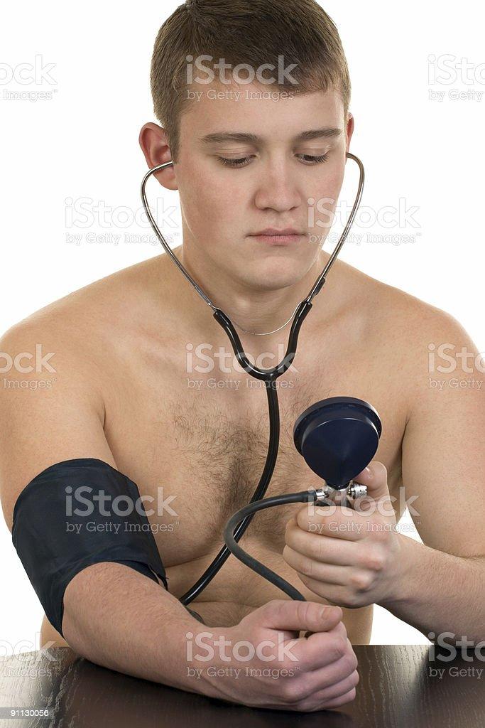 Measurement of arterial pressure royalty-free stock photo