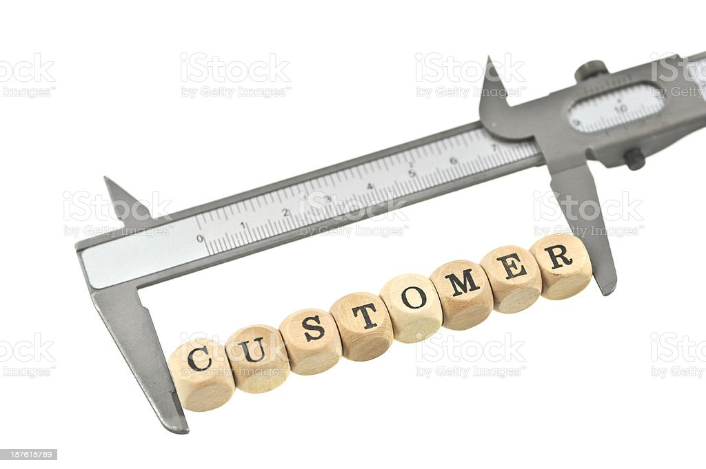 measurement of customer value stock photo