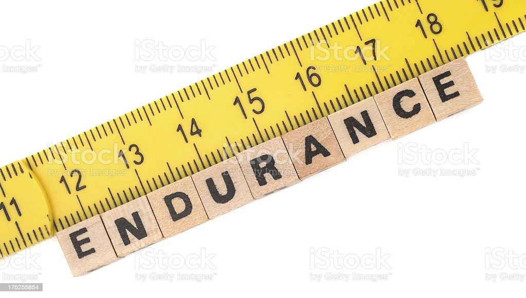 measurement of endurance royalty-free stock photo