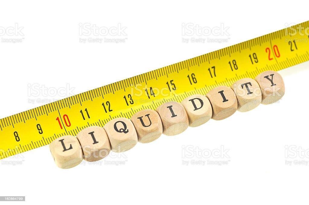 measurement of liquidity royalty-free stock photo