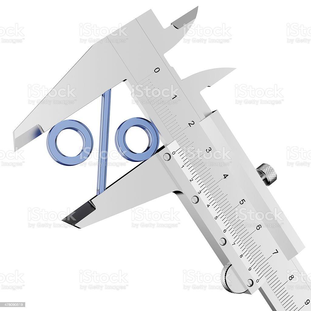 measurement of percent royalty-free stock photo