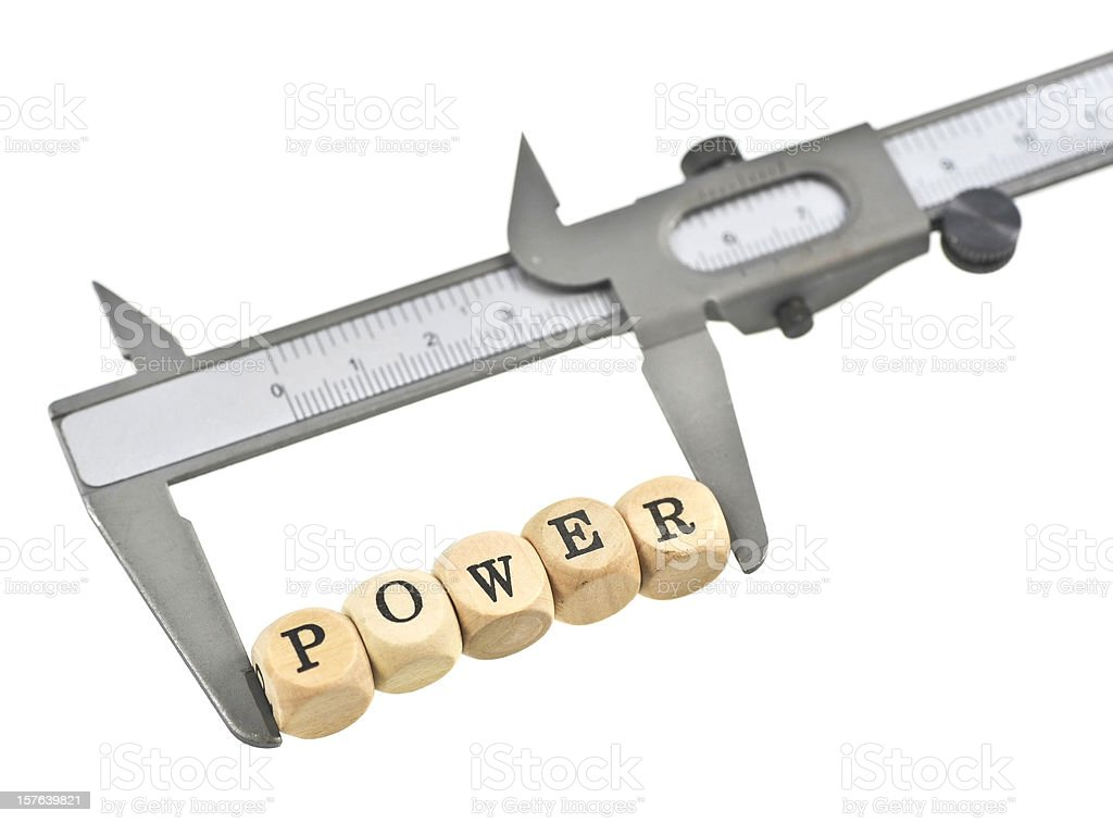 measurement of power royalty-free stock photo