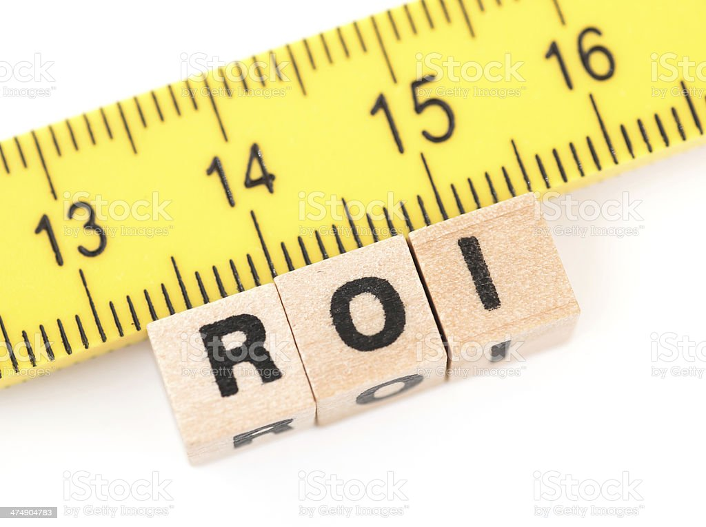 measurement of roi stock photo