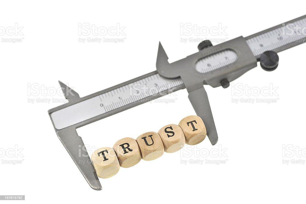 measurement of trust royalty-free stock photo