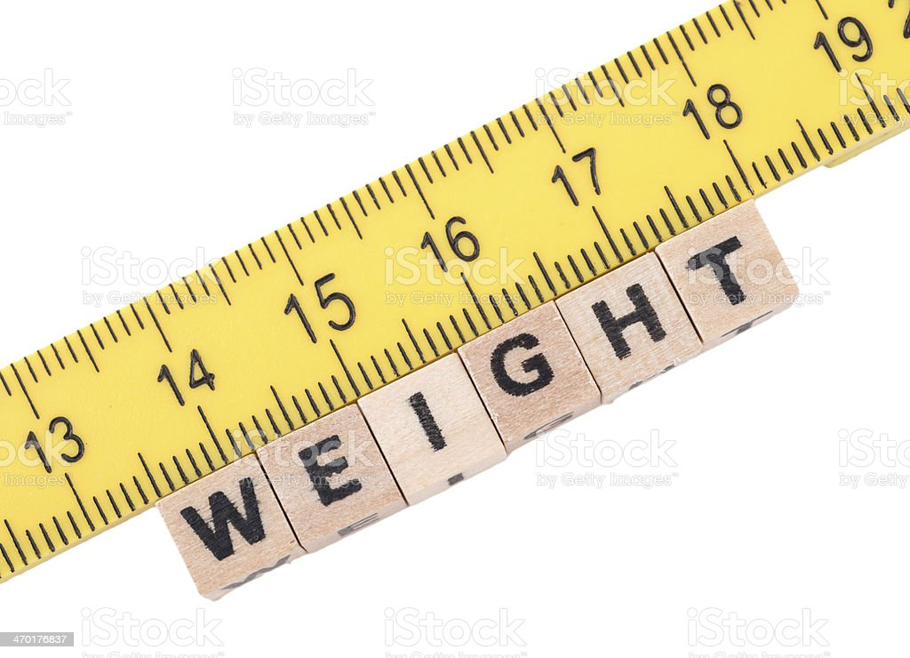 Measurement of weight royalty-free stock photo