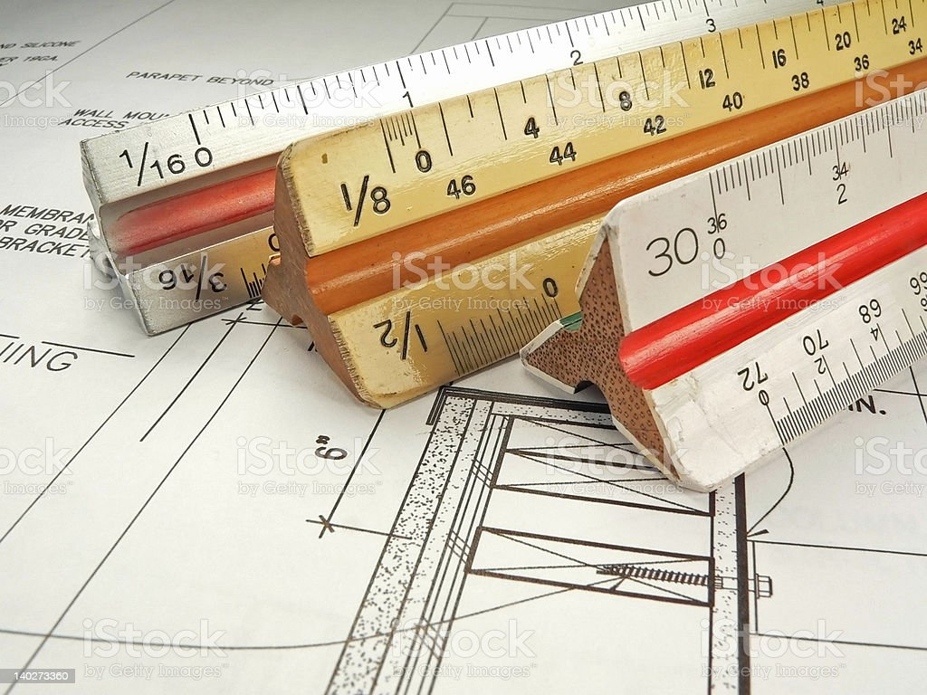 Measurement Scales for the Architect royalty-free stock vector art