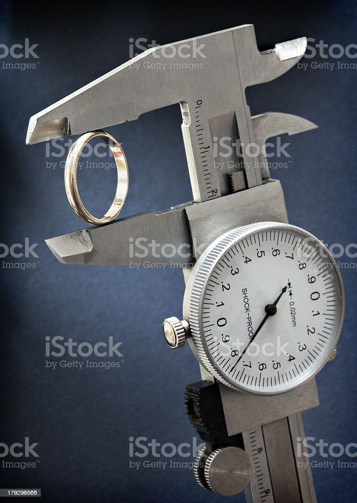 Measurement tool 1 stock photo