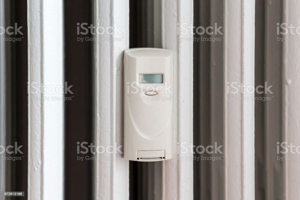 Measurer of thermal energy for radiator stock photo