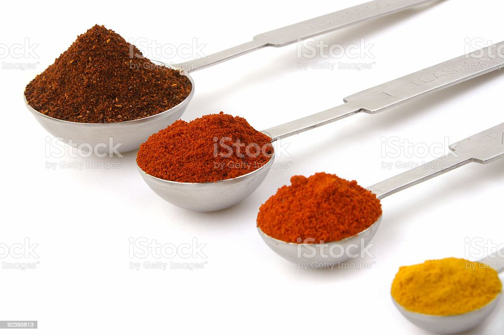 Measures of spices royalty-free stock photo