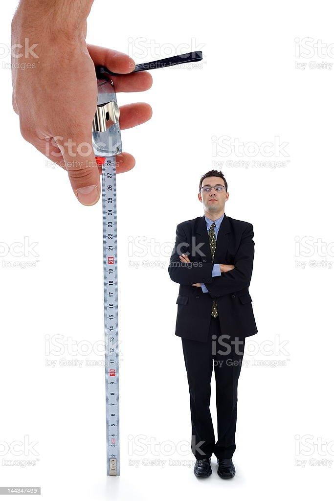 Measuring a men royalty-free stock photo