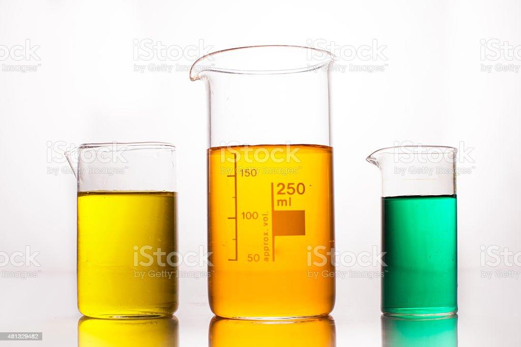 Measuring Beakers stock photo