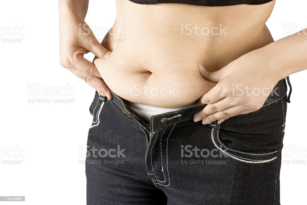 Measuring body fat royalty-free stock photo
