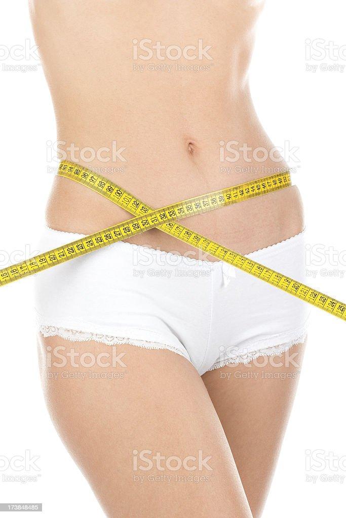 Measuring body royalty-free stock photo