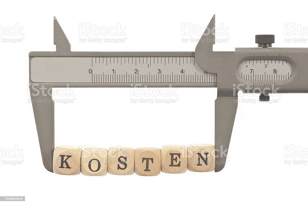 Kosten messen royalty-free stock photo
