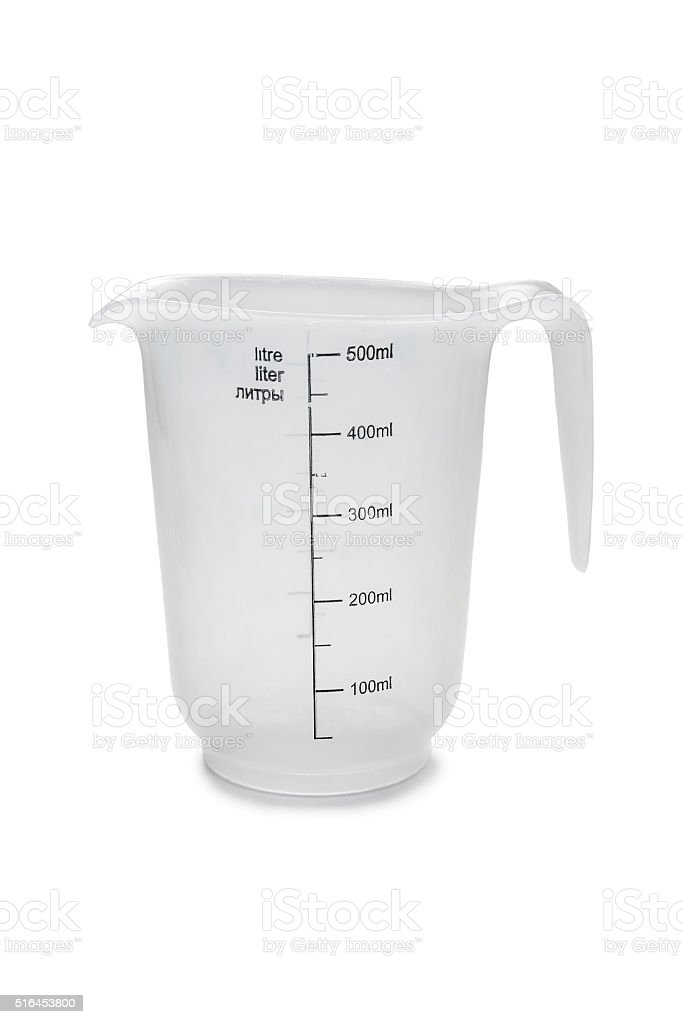 Measuring cup stock photo