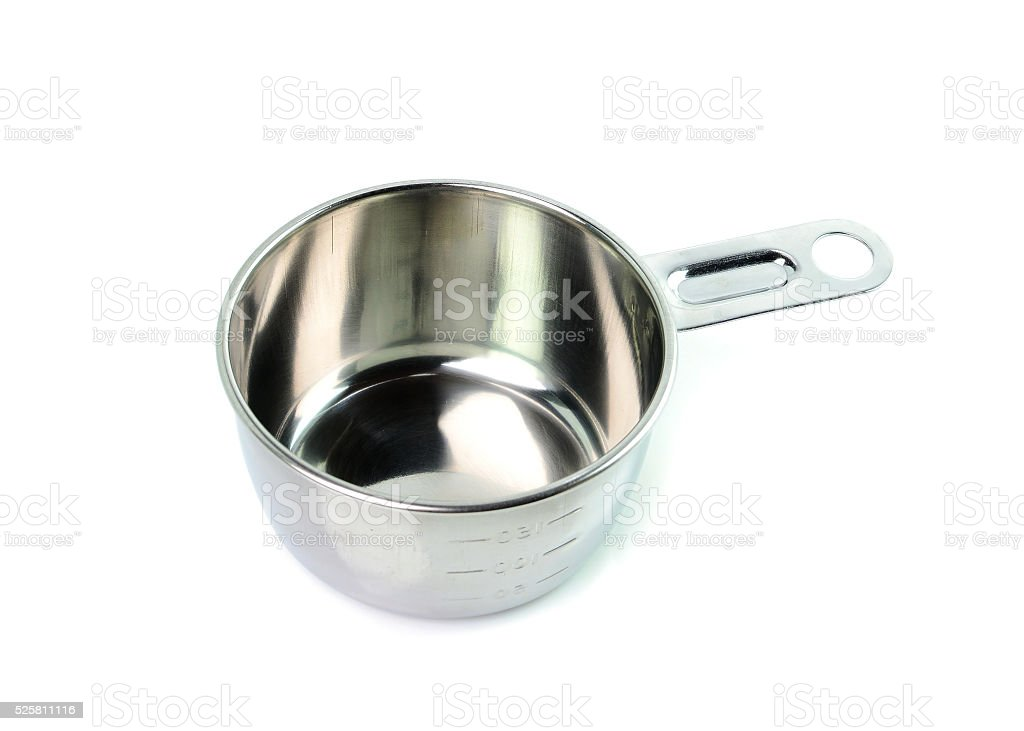 Measuring cups isolated on white background stock photo
