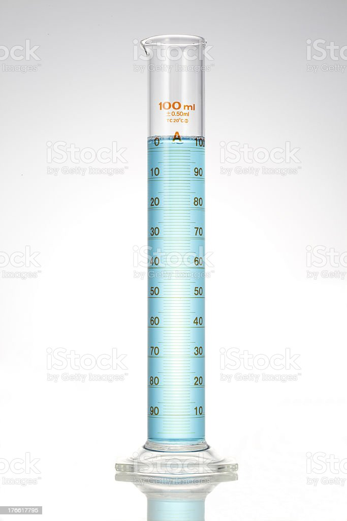 measuring cylinders stock photo