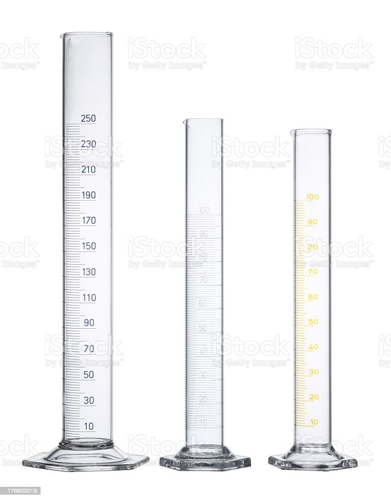 measuring cylinders royalty-free stock photo