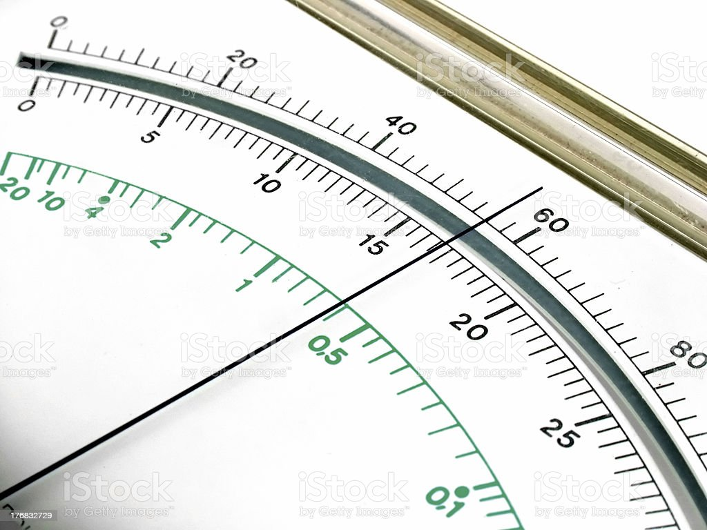 Measuring device display royalty-free stock photo