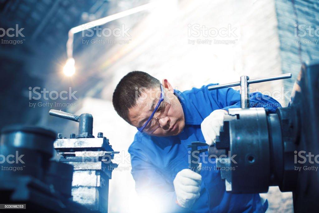Measuring Equipment Digital Micrometer stock photo