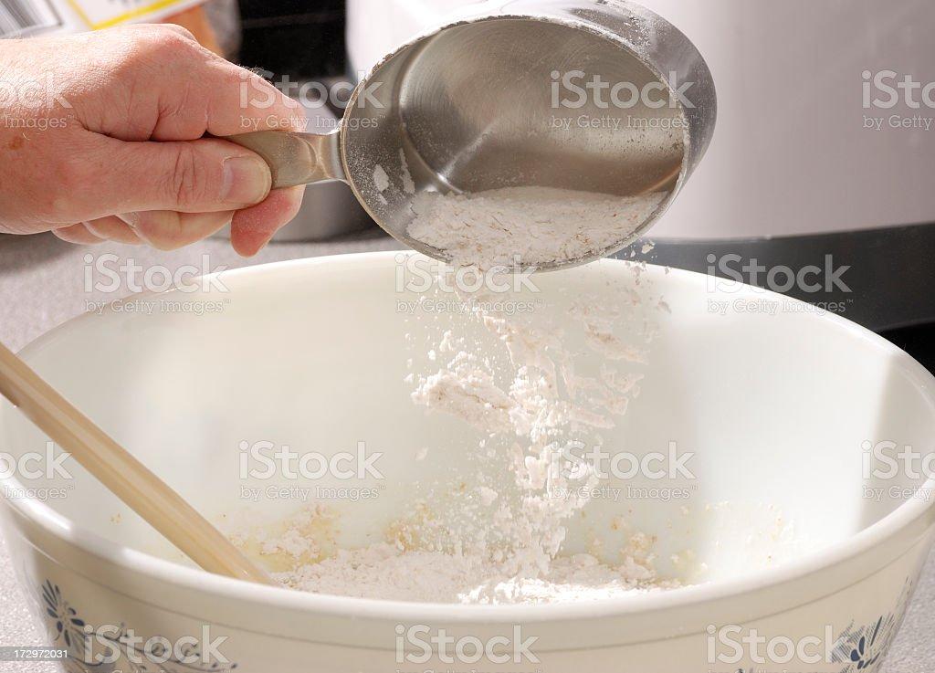 Measuring Flour royalty-free stock photo