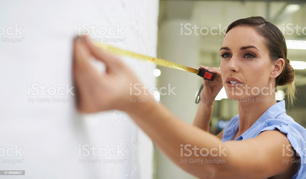 Measuring for the perfect space stock photo