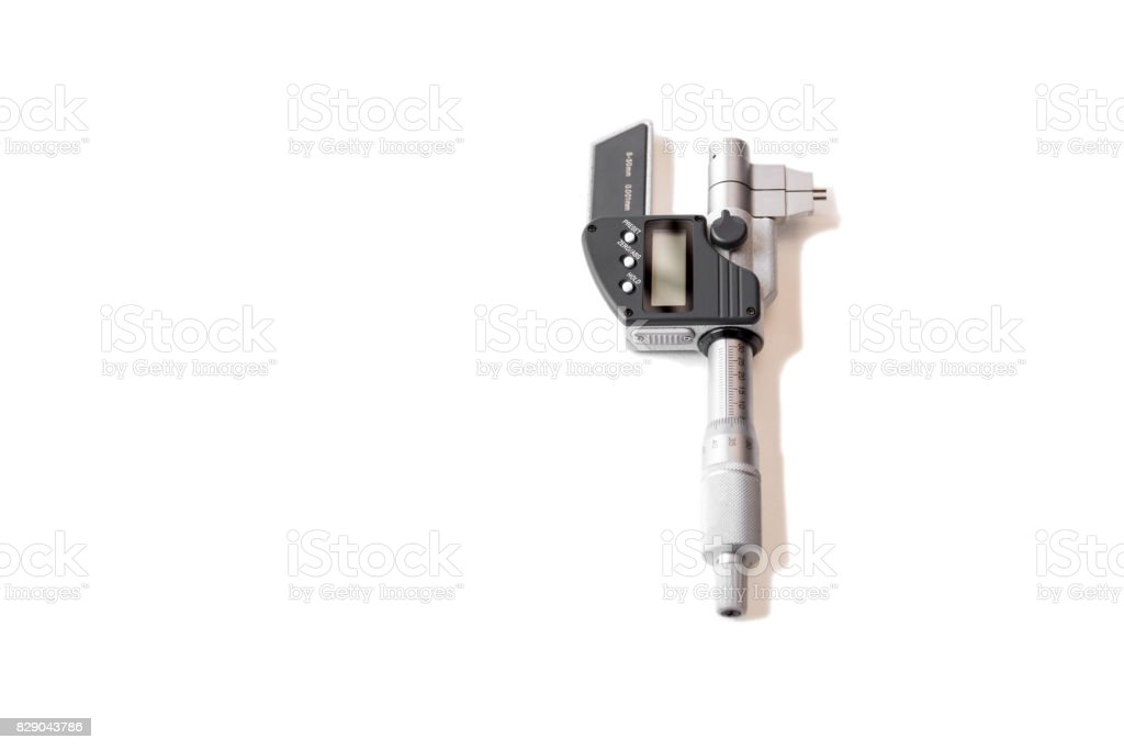 Measuring instrument Digimatic micrometer isolated stock photo