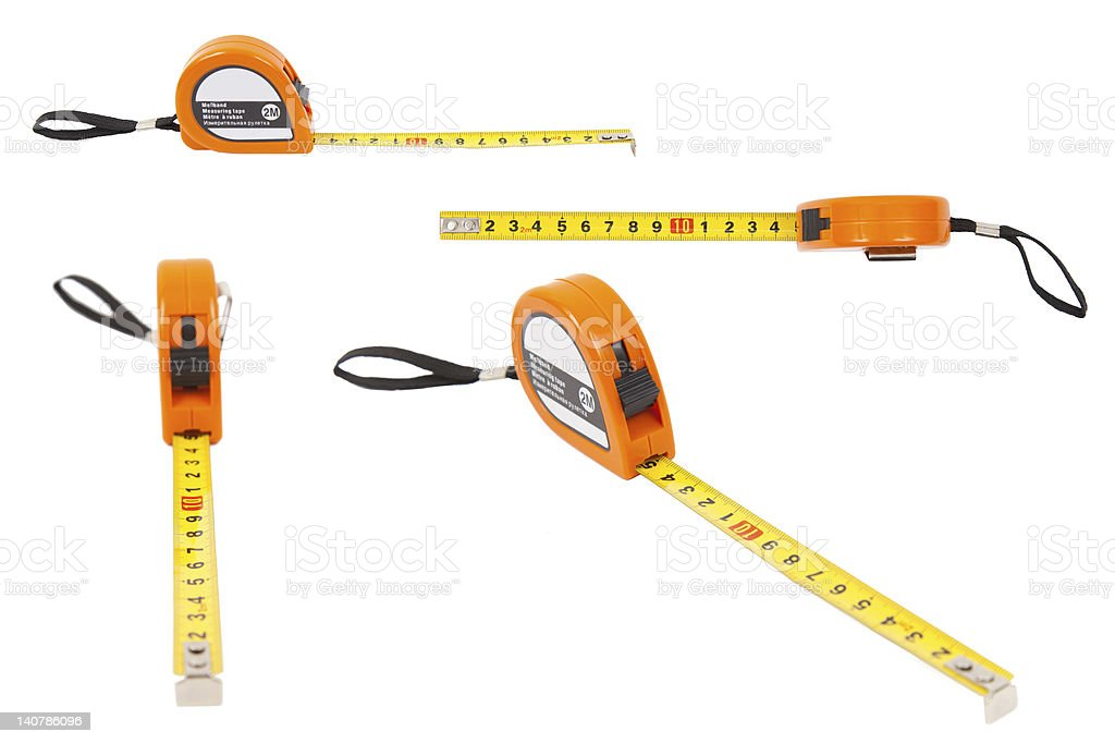 measuring line on a white background stock photo