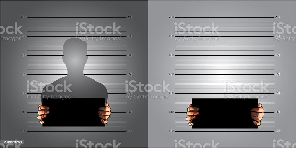 measuring lines mugshot stock photo