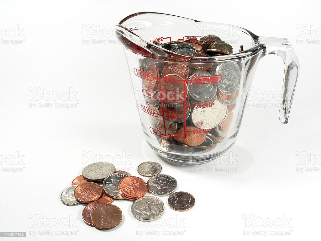 Measuring Money royalty-free stock photo