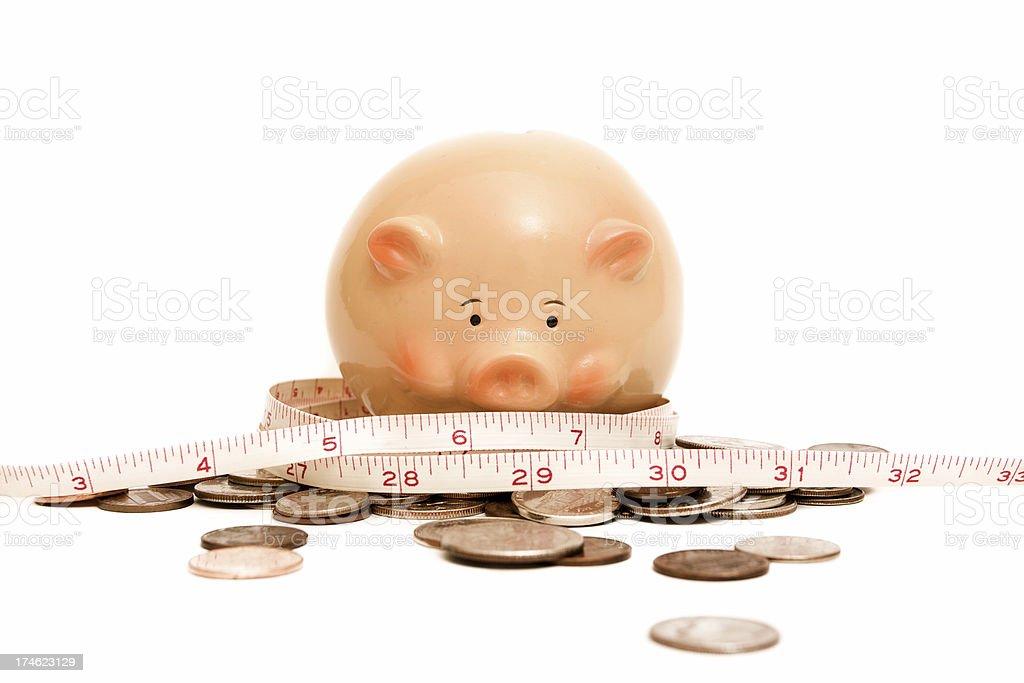 measuring money royalty-free stock photo