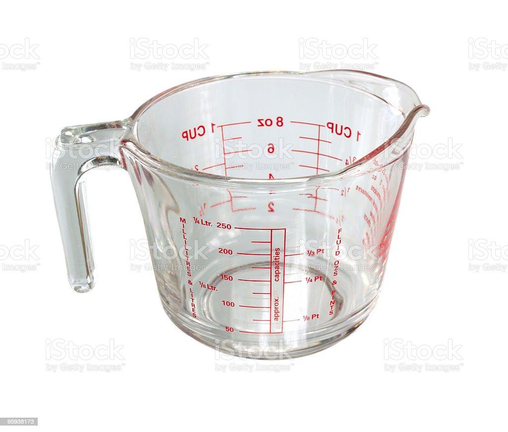 Measuring mug isolated stock photo