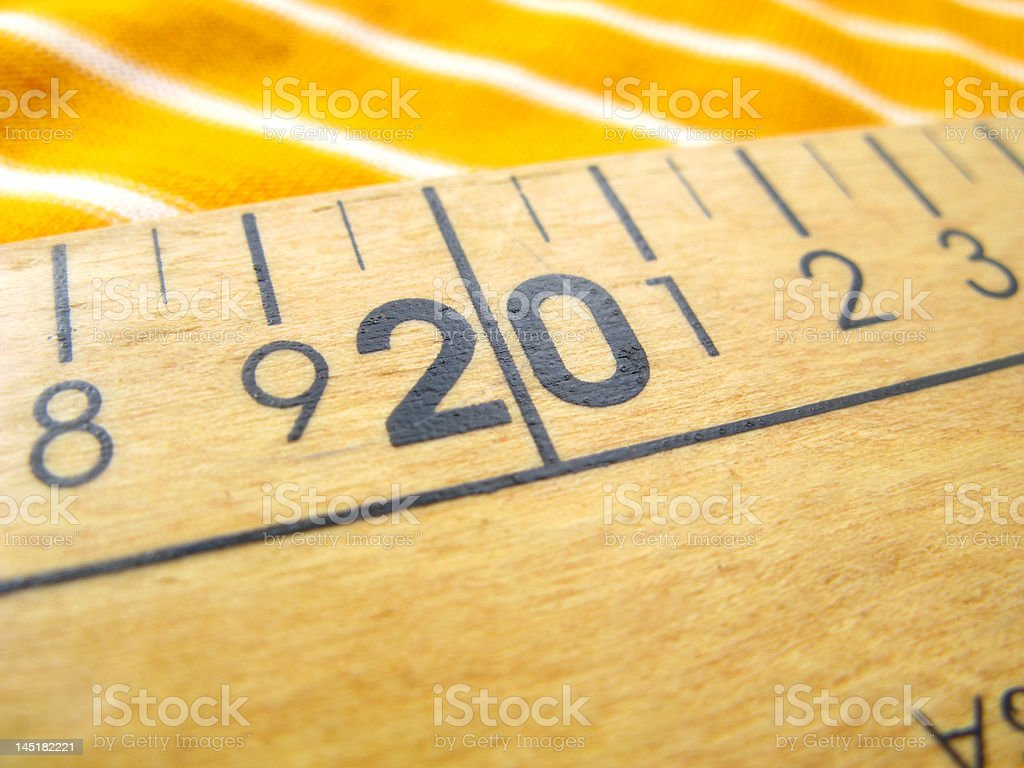 Measuring royalty-free stock photo